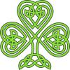 Celtic three leaved shamrock from openclipart.org